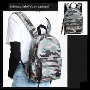 REBECCA MINKOFF Camo Nylon Backpack